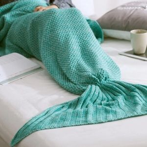 Accessories - ⬇️Knitted Mermaid Tail Blanket in Sea Moss Green🐠